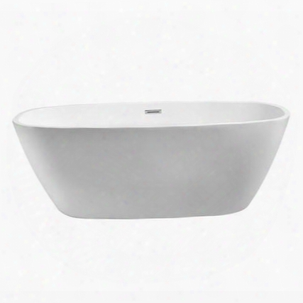 "N70059fswhfm 59"" Streamline N-700-59fswh-fm Soaking Freestanding Tub With Internal"