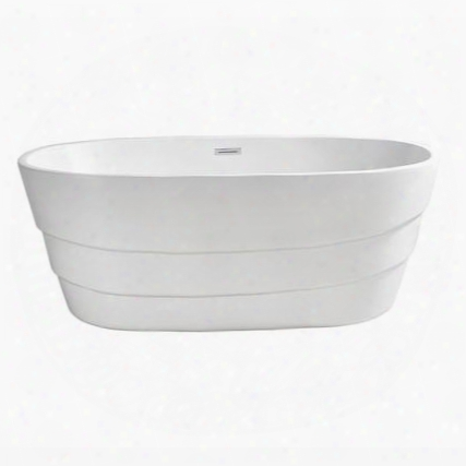 "N76063fswhfm 63"" Streamline N-760-63fswh-fm Soaking Freestanding Tub With Internal"
