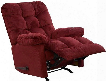"Nettles Collection 4737-2-1765-40 40"" Chaise Rocker Recliner With 3 Speed Massage Deluxe Multi-level Heat Button Tufted Back Oversized Seating Micro-suede"