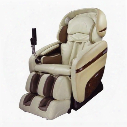 Os-3d Pro Dreamer Cream Massage Chair With 3d Massage 2 Stage Zero Gravity 2nd Genertion S-track Accupoint Technology And Mp3 Player Connection In