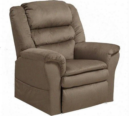 """Preston Collection 4850-2148-39 39"""" Power Lift Recliner With Pillowtop Seat Triple Pub Back Design Padded Arms Lay-flat Reclining And Polyester Fabric"""