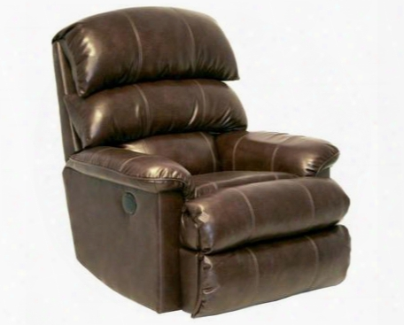 "Templeton Collection 64418-4-1214-09/3041-09 38"" Power ""inch Away"" Wall-hugger Recliner With Triple Pub Back Comfort Double-needle Treatment And Valentino"