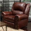 "Messina Collection 764220-71283-19/3083-19 41"" Power Lay Flat Recliner with Lumbar Headrest Control Panel Technology Top Grain Italian Leather and Leather"