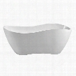 "N74067FSWHFM 67"" Streamline N-740-67FSWH-FM Soaking Freestanding Tub With Internal"