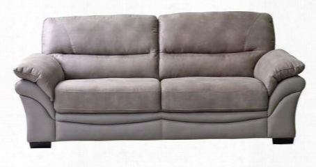 Victoriasota Victoria Two-tone Soft Touch Taupe Fabric Sofa By Diamond
