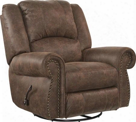 """Westin Collection 61050-6-1304 -59/3304-59 41"""" Power Glider Recliner With Faux Leather Upholstery Rolled Arms Usb Port And Decorative Nailhead In"""