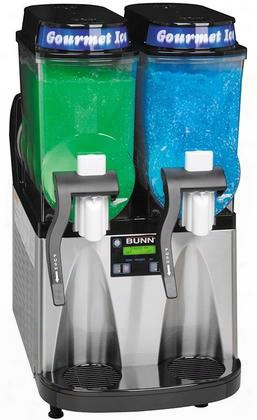 340000081 Frozen Beverage Dispenser With 2 Large 3-gallon Hoppers Manual Fill Touchpad Display Extended Handle And No Lube Design Faucets In Black With