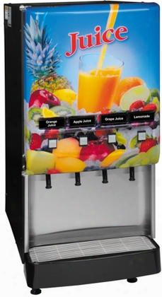 37300.0004 Jdf-4s Lit Door 4 Flavor Cold Beverage System With Led Lighted Graphics Push Button Portion Control Quick Dispense Door Lock Ensign In