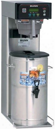 41400.0001 Itb-dbc Iced Tea Brewer With Sweetener Quickbrew Funnel Tip Splashgard Energy-saver Mode In Stainless