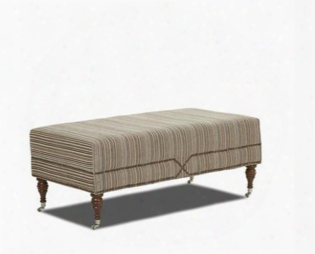 "Beaufort Collection K46510-ottoc-ca 47"" Ottoman With Casters Spindle Turned Legs And Polyester Upholstery In Crafty"