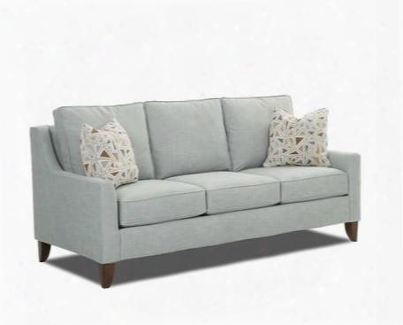 "Belton Collection K10200-s-cc-ps 80"" Sofa With Track Arms Loose Back Cushions And Tapered Legs In Conversation Capri And Pillows In Polaris"