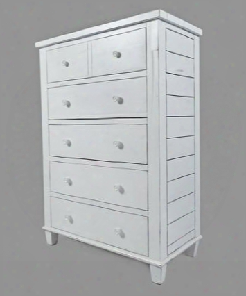 """Chesapeake Collection 1673-30 38"""" 5-drawer Chest With Acacia Solids Distressed Detailing And Casual Style In"""