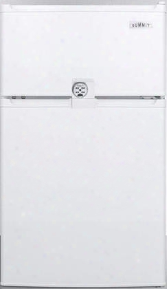"Cp351wllf2ada 19"" Compact Refrigerator-freezer With 2.9 Cu. Ft. Capacity Door Lock Interior Light Cycle Defrost Zero Degree Freezer And Reversible Doors"