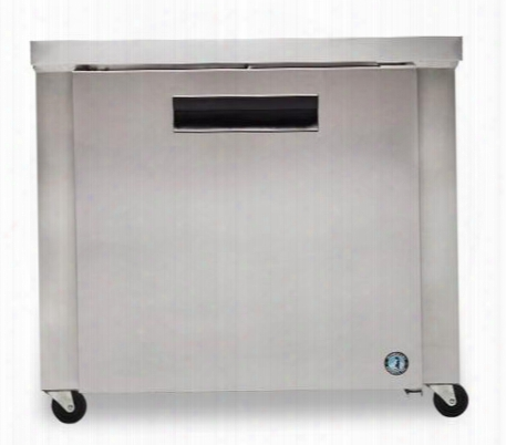 "Crmr36-01 36"" Commercial Undercounter Refrigerator With Lock 9.9 Cu. Ft. Capacity Stainless Steel Exterior 1 Epoxy Coatedshelf Stepped Door Design And"