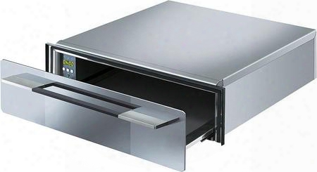 "Ctu15 S 24"" Linea Series Warming Drawer With 10 Hour Delay Timer Electronic Touch Controls And 400 Watt Power Heating Element In Stainless"