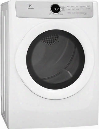 """Efdg317tiw 27"""" Front Load Gas Dryer With 8 Cu. Ft. Capacity 5 Drying Cycles 3 Temperature Settings Wrinkle Release Iq-touch Controls And 3 Dryness Levels"""