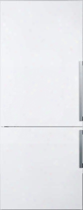 "Ffbf281wlhd 28"" Energy Star Bottom Freezer Refrigerator With 16.8 Cu. Ft. Capacity Led Lighting Open Door Alarm And Glass Shelves With A Wine Rack In White"
