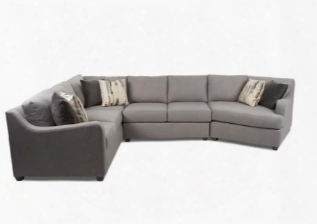 "Greer Collection K29200l-cuddsect-lp-fp-ta 150"" Sectional With Track Arms Block Feet And Loose Back Pillows In Lily"