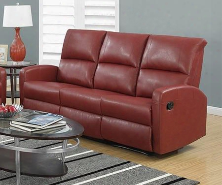 "I 84rd-3 72"" Reclining Sofa With Lumbar Support Comfortably Pa Dded And Bonded Leather In"