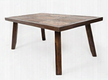 "Painted Canyon Collection 1601-72 72"" Dining Table With Acacia Solids Distressed Detailing And Casual Style In Dark"