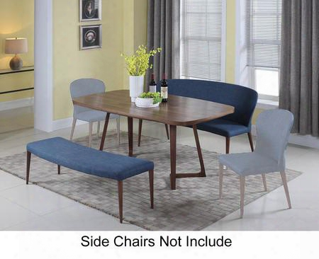 Samira Collection Samira-3pc 3-piece Dining Room Set With Dining Table Nook And Bench In