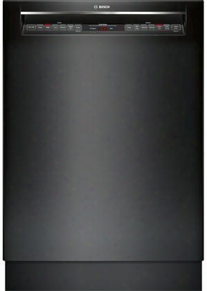 """She878wd6n 24"""" 800 Series Recessed Handle Dishwasher With 6 Cycles 6 Options Flexible Third Rack Glide Touch Controls In"""