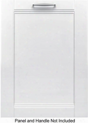 "Shvm98w73n 24"" 800 Series Handle Dishwasher With 39 Dba Noise Level 3rd Rack 6 Wash Cycles And Sanitize Option In Panel"