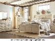 Bolanburg Queen Bedroom Set with Louvered Panel Bed Dresser Mirror and Nightstand in Antique