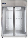 "CR2S-FGE 55"" Glass door 47.2 cu. ft. Capacity Two Section Refrigerator in Stainless"