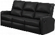 "I 84BK-3 72"" Reclining Sofa with Lumbar Support Comfortably Padded and Bonded Leather in"