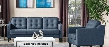 Lucas Collection LUCASSCHBU 2 PC Living Room Set with Sofa + Armchair in Blue