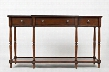 "Stately Home Collection 1632-60 60"" Breakfront Console with Three Drawers and Turned Leg in Antique"
