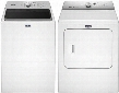 "White Top Load Laundry Pair with MVWB766FW 28"" Washer and MGDB766FW 29"" Gas"