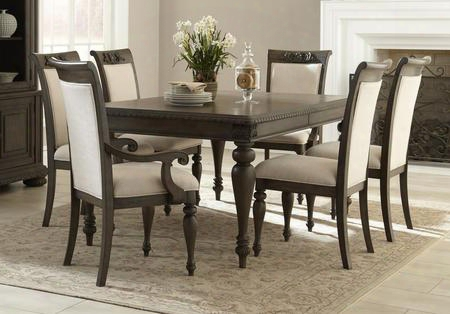 Versailles 980-7pcdining-br 7-piece Dining Room Set With Dining Table 4 Side Chairs And 2 Armchairs In