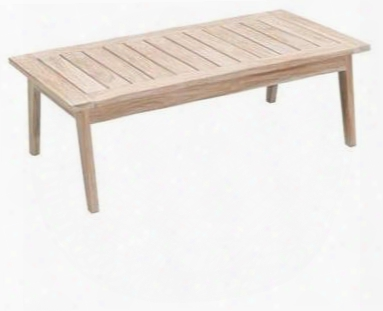 """West Oprt Collection 703745 47"""" Coffee Table With 100% Grade Bc Teak And Modern Design In White Wash"""