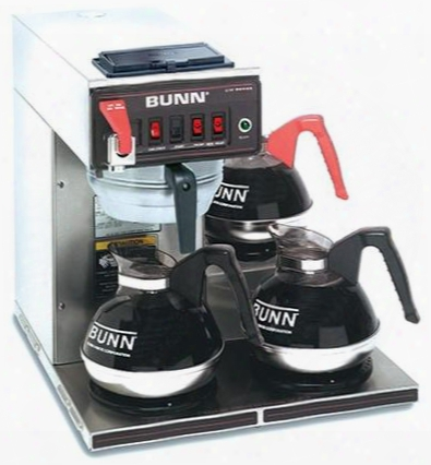 129500409 Cwtf-dv-3 12 Cup Dual Volt Automatic Coffee Brewer With 3 Warmers Hot Water Faucet Pourover Splashgard In