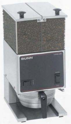 26800.0001 Lpg2e Low Profile Portion Control Coffee Grinder With 2 Hoppers Legs High Torque Motor Stainless