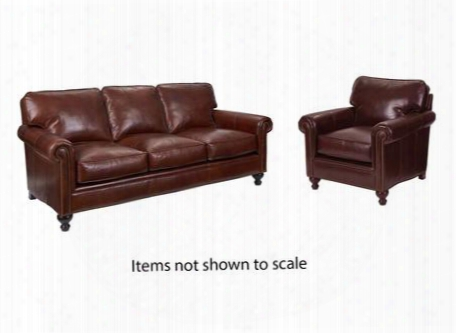 Harrison Collection L6751q001579sc 2-piece Livin Groom Set With Sofa And Chair In Brown With Affinity