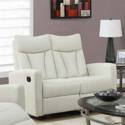 "I 87iv-2 50"" Reclining Love Seat With Lumbar Support Comfortably Padded And Bonded Leather In"