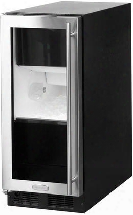 "Ml15cpg1ls 15"" Clear Ice Maker With 39 Lbs Daily Production 35 Lbs Storage Capacity Close Door Assist Led Lighting And Intuit Integrated Controls In"