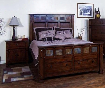 Santa Fe Collection 2322dcckbbedroomset 2-piece Bedroom Set With California Kingbed And Nightstand In Dark Chocolate