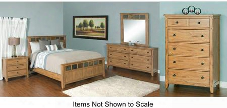 Sedona Collection 2334rokbdmnc 5-piece Bedroom Set With King Bed Dresser Mirror Nightstand And Chest In Rustic Oak
