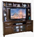 "3332CA 80"" TV Console & Media Hutch with 6 Doors 2 Drawers and Adjustable Shelves in Cappuccino"