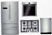 "4 Piece Stainless Steel Kitchen Package With B21CL80SNS 36"" French Door Refrigerator NGM5055UC 30"" Gas Cooktop HBE5451UC 24"" Single Wall Oven and SHXN8U55UC"