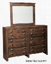 "Hammerstead Collection B407-31 61"" 6-Drawer Dresser with Apothecary Inspired Look Cup Pull Hardware and Side Roller Glides in"