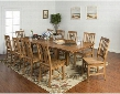 Sedona Collection 1356RODT10C 11-Piece Dining Room Set with Dining Table and 10 Chairs in Rustic Oak