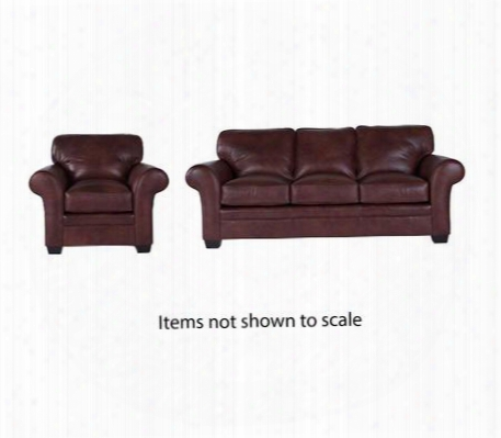 Zachary Collection L7902q006322sc 2-piece Living Room Set With Sofa And Chair In Brown With Affinity
