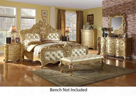 Zelda Collection Zeldakpbdm2nc 6-piece Bedroom Set With King Panel Bed Dresser Mirror 2 Nightstands And Chest In