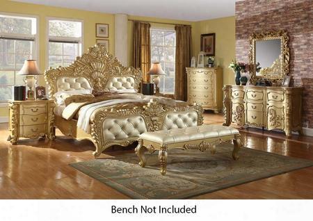 Zelda Collection Zeldakpbdmnc 5-piece Bedroom Set With King Panel Bed Dresser Mirror Single Nightstand And Chest In