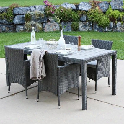 Ahrd5gy Angelo:home 5-piece Rattan Patio Dining Set -